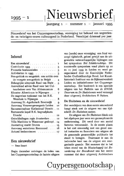 Nieuwsbrief 1995-1