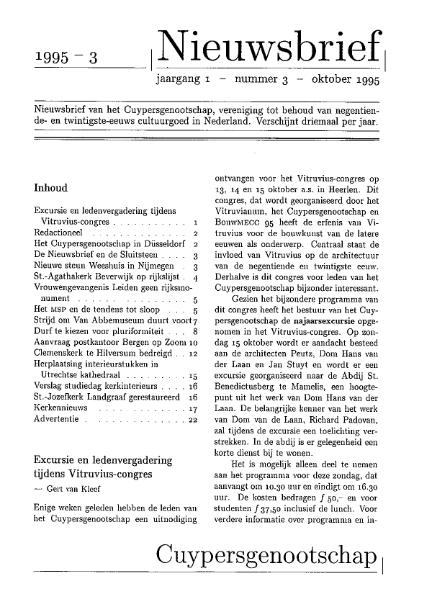 Nieuwsbrief 1995-3
