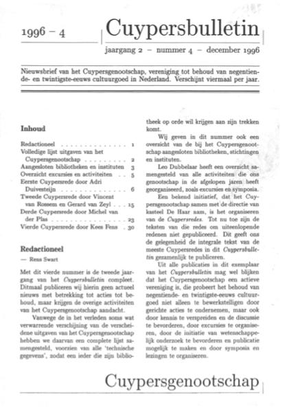 Cuypersbulletin 1996-4