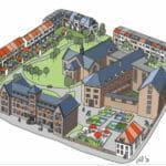 Bergen op Zoom, alternatief plan. Ontwerp Piet Juten, Behoud Ketrientje