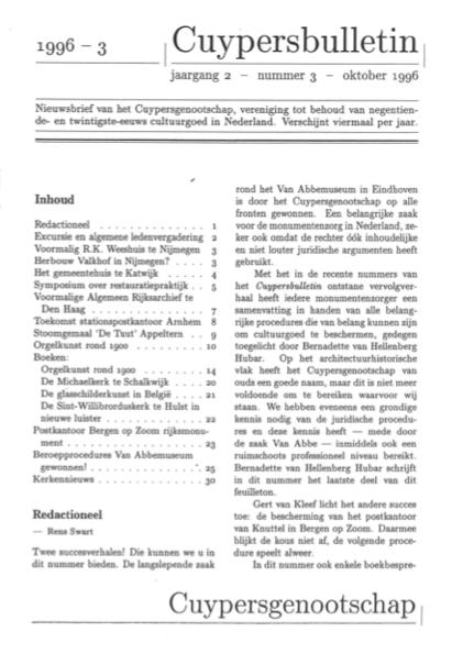 Cuypersbulletin 1996-3