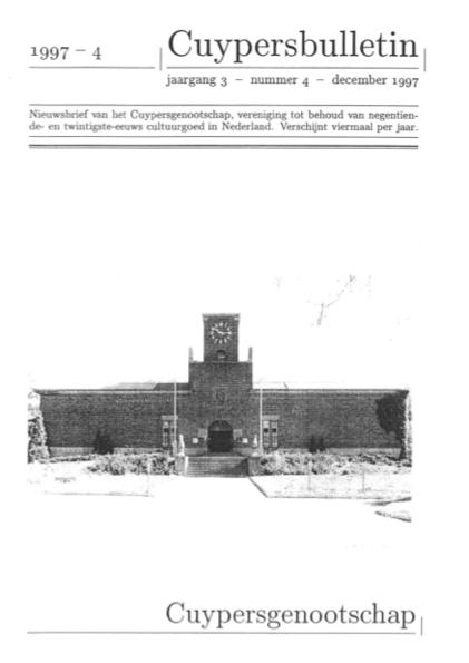 Cuypersbulletin 1997-4