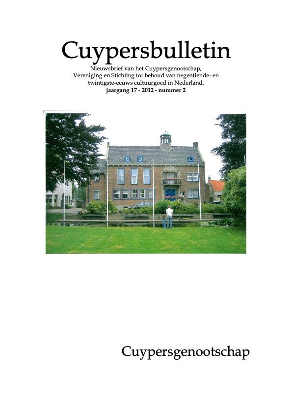 Cuypersbulletin 2012-2