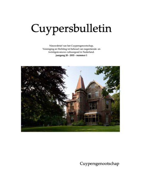Cuypersbulletin 2015-1