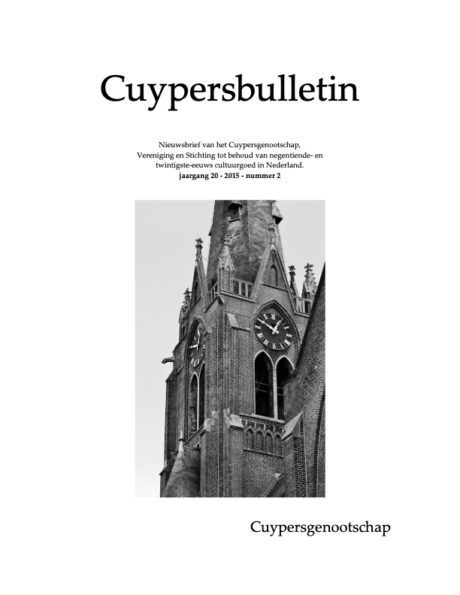 Cuypersbulletin 2015-2