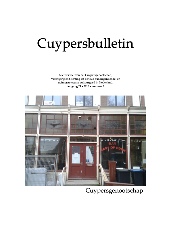 Cuypersbulletin 2016-1