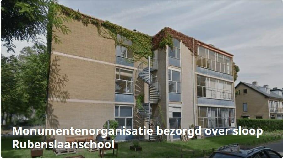 Cuypersgenootschap bezorgd over Rubenslaanschool